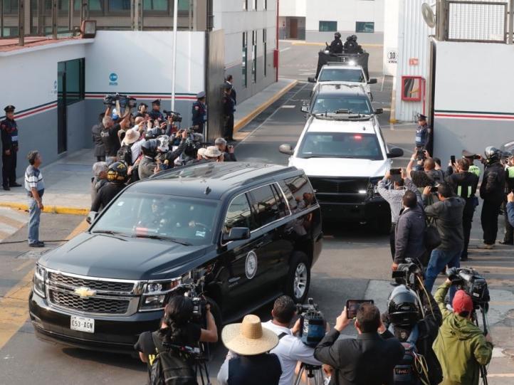 Salida del convoy que trasladó a Roberto Borge