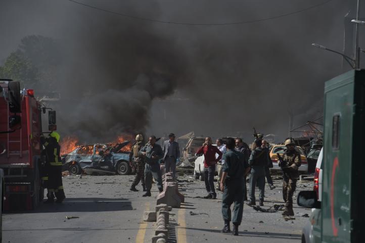 Ataque en barrio diplomático de Kabul