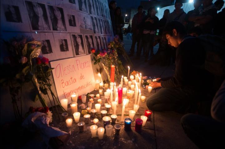 Homenaje para Alessa Flores, la joven transgénero asesinada; exigen justicia