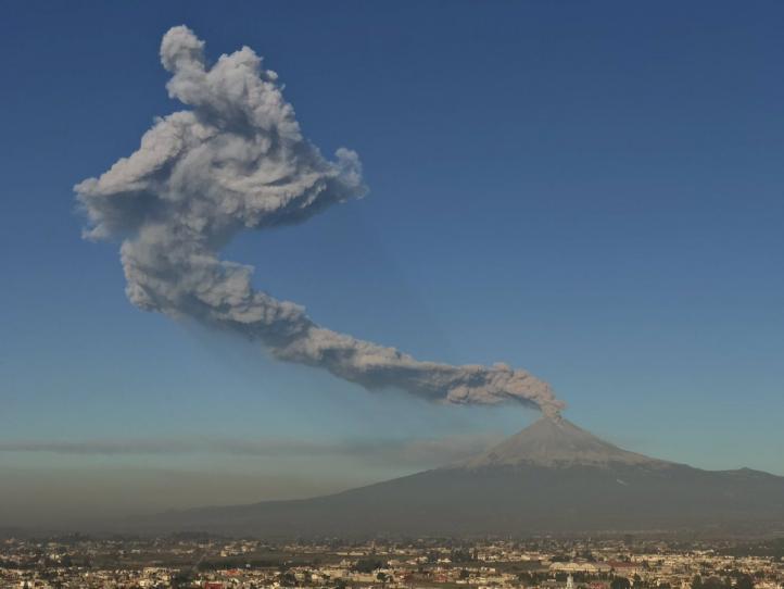Elevan a amarillo fase 3 semáforo de alerta del Popocatépetl