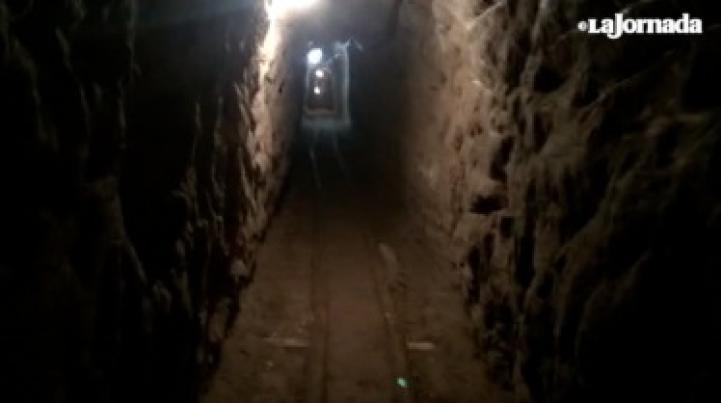 Túnel por el cual se fugó Joaquín 'El Chapo' Guzmán