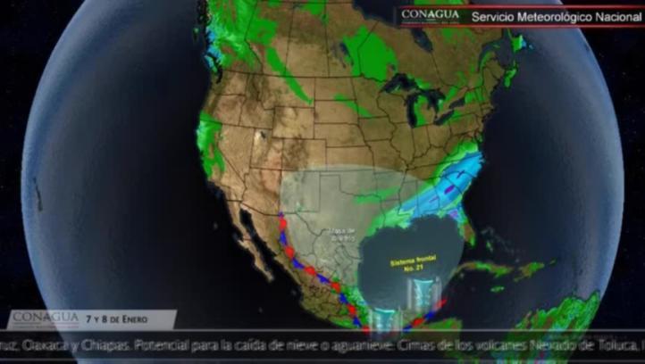 Pronóstico del tiempo para los días 7 y 8 de enero