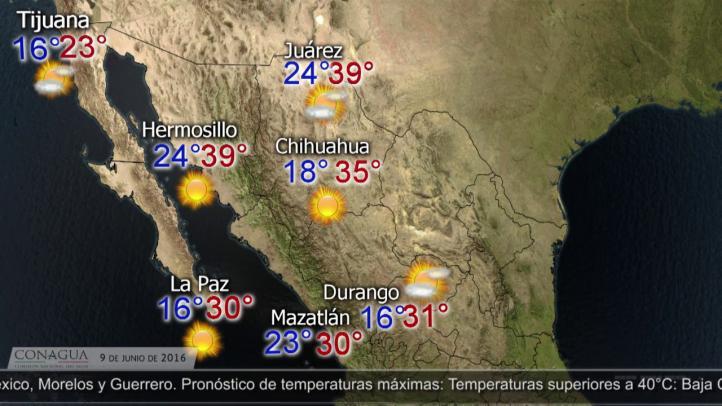 Pronóstico del tiempo para el 9 de junio