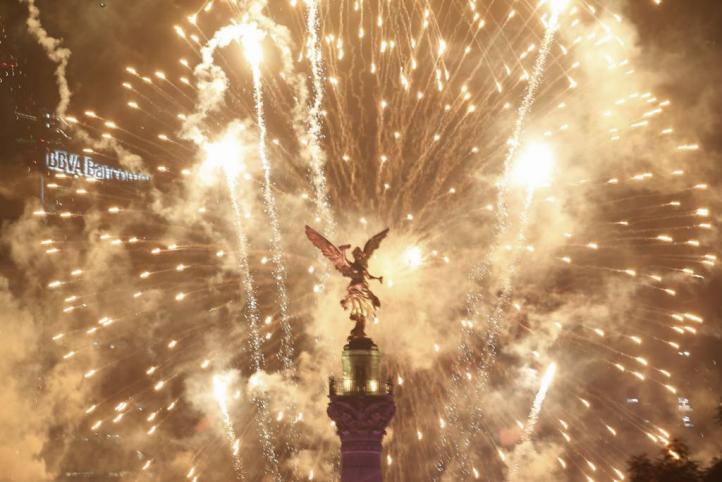 Festejo en Paseo de la Reforma
