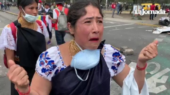 Mujeres indígenas marchan en Ecuador contra Lenín Moreno