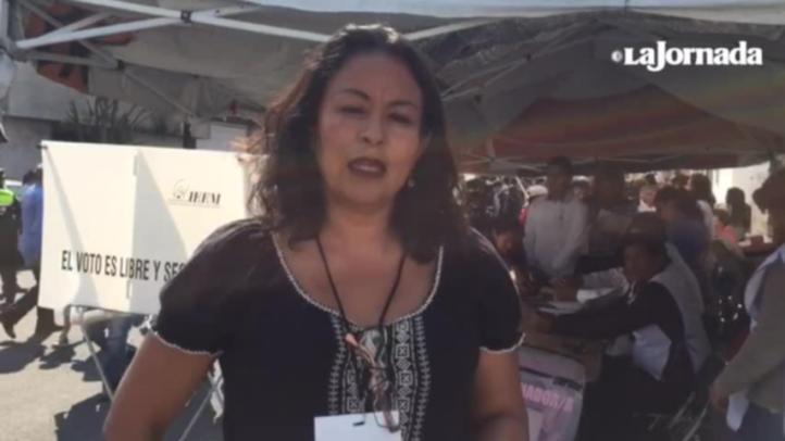 Reporte de votación del candidato del PRD al Estado de México