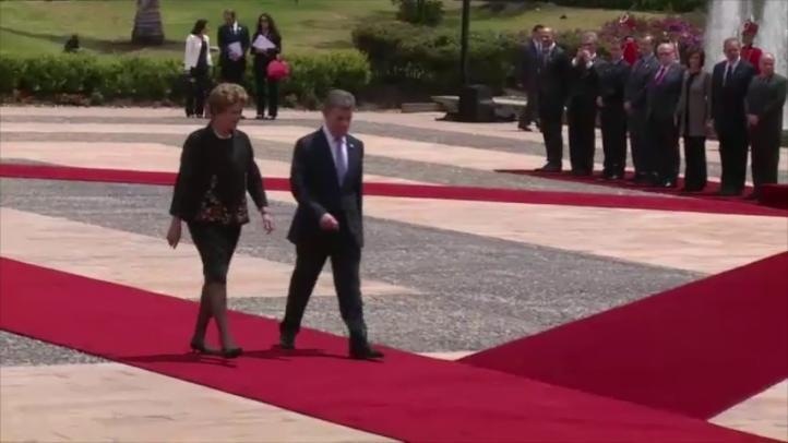 Dilma Rousseff y Juan Manuel Santos se reúnen en Colombia