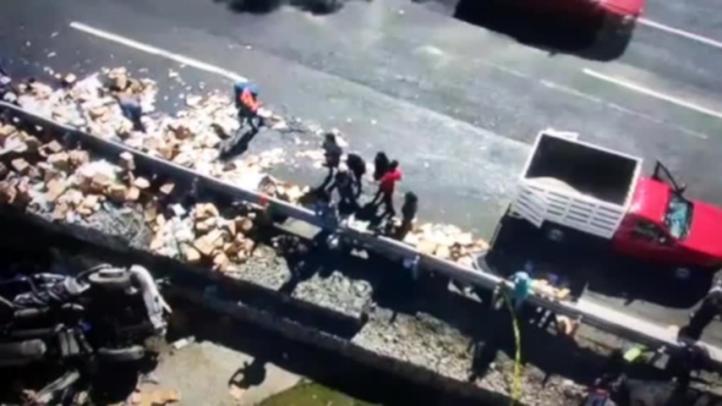 Accidente de tráiler en la México-Toluca