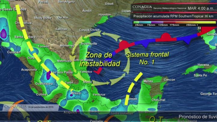 Lluvias intensas en Veracruz y el Estado de México