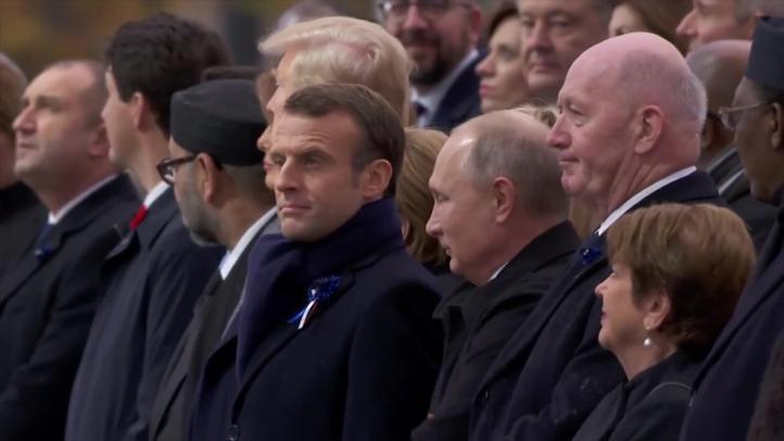 Líderes conmemoran el centenario del fin de la I Guerra Mundial