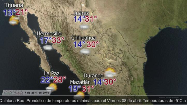 Pronóstico del tiempo para el 7 de abril