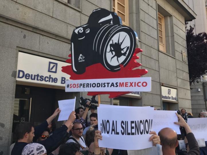 Periodistas españoles exigen justicia por el asesinato de Javier Valdez