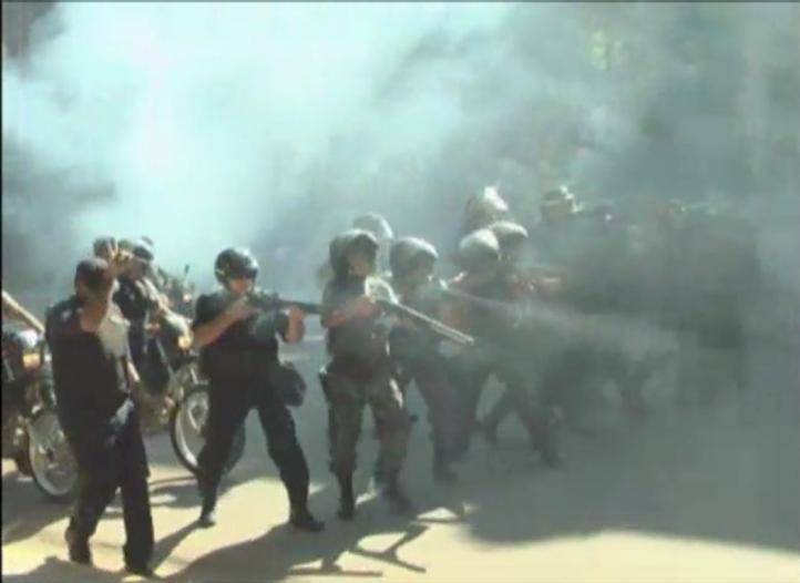 Con balas de goma, policía dispersa manifestación en Chaco, Argentina