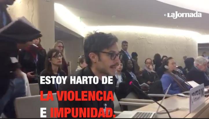 Apremia Gael García a la ONU a intervenir ante violencia en México
