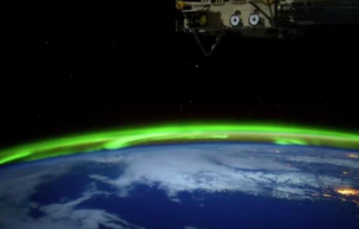 La Nasa capta imágenes de una aurora boreal