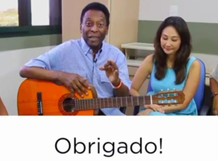 Agradece Pelé en video buenos deseos de seguidores