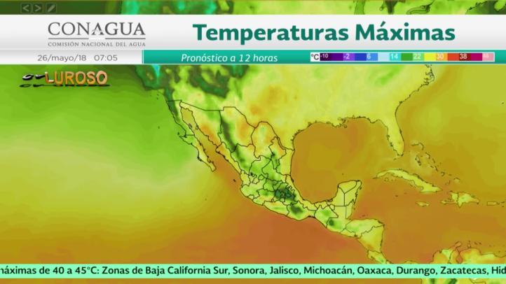 Pronóstico del tiempo para el 26 y 27 de mayo de 2018