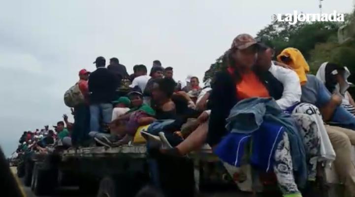 La Caravana Migrante llega a Oaxaca