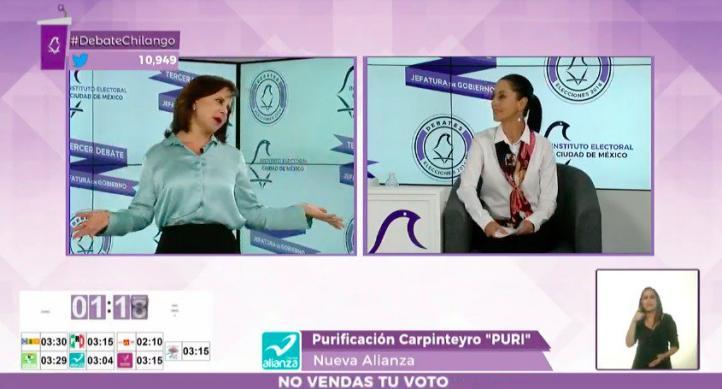 Purificación Carpinteyro encara a Claudia Sheinbaum