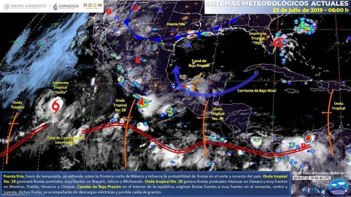 Pronóstico del Tiempo para el 23 de julio de 2019