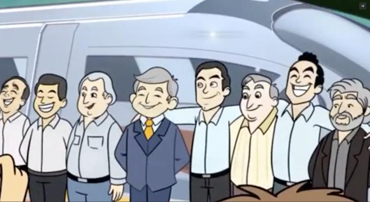Promueven Tren Maya con caricatura