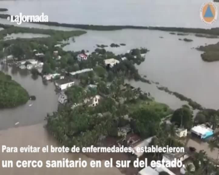 Tras inundaciones, mantienen cerco sanitario en Tamaulipas