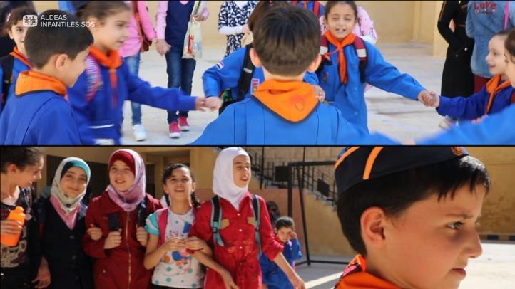Mil 800 niños del este de Alepo vuelven a la escuela