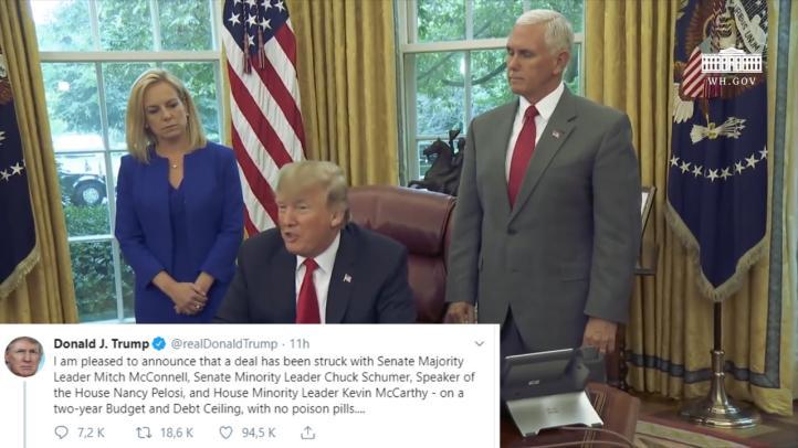 Trump llega a un acuerdo sobre el límite de deuda