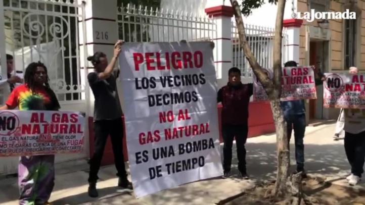 Protesta contra gas natural en la Roma