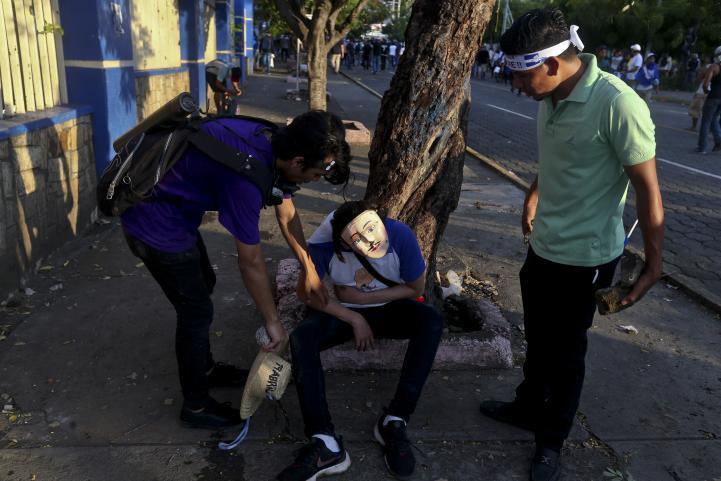 Disparos en marcha contra el gobierno de Nicaragua