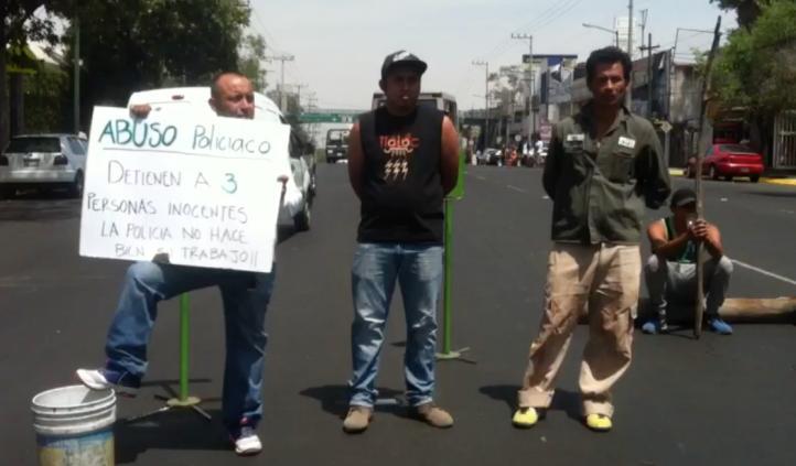 Bloquean avenida Ermita Iztapalapa por detención arbitraria