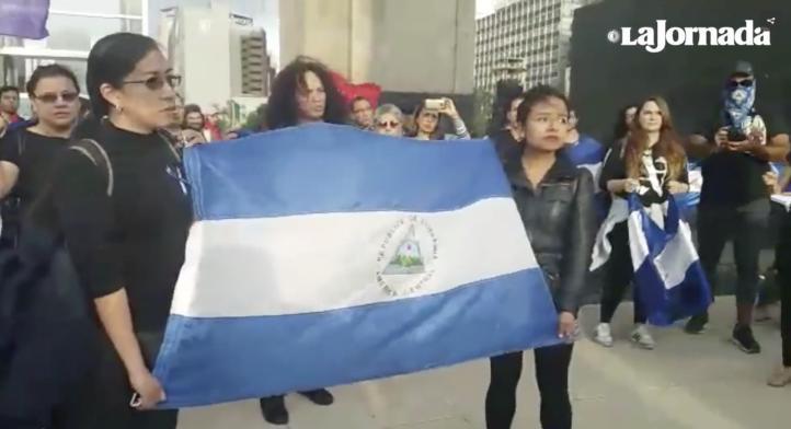 Nicaragüenses protestan en el 39 aniversario de la Revolución Sandinista