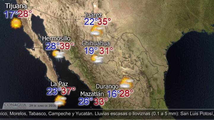 Pronóstico del tiempo para el 29 de junio de 2016