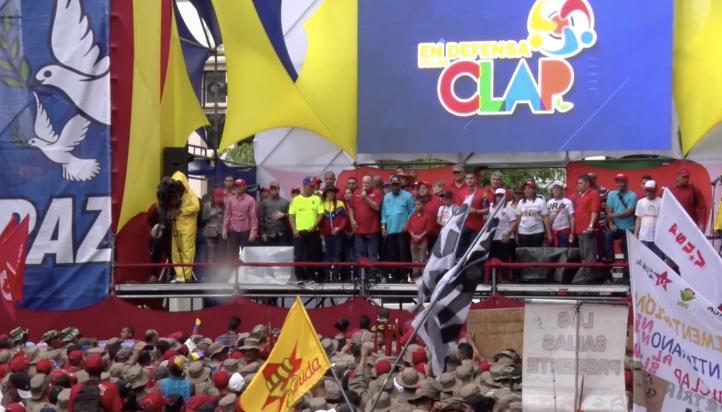 Venezolanos marchan en defensa del programa de distribución de alimentos