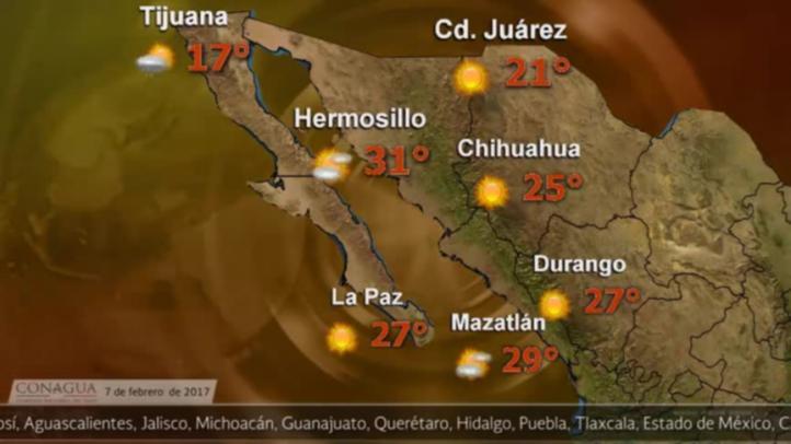 Pronóstico del tiempo para el 7 de febrero