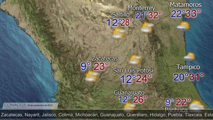 Pronóstico del Tiempo para el 23 de septiembre