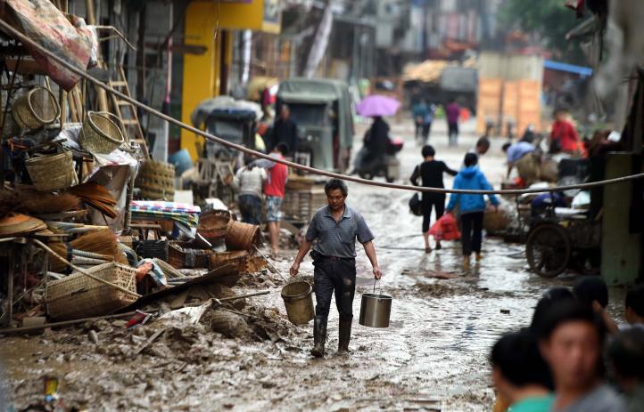 Inundaciones dejan 37 muertos en China