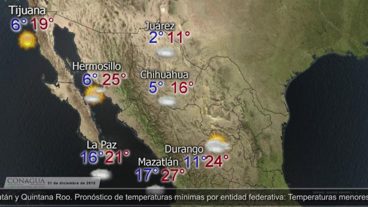 Pronóstico del clima para el 31 de diciembre