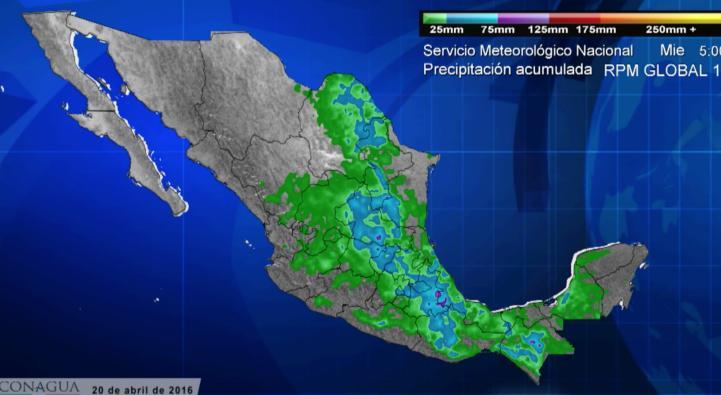 Pronóstico del tiempo para el 20 de abril