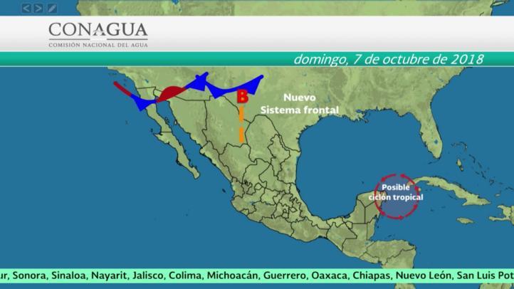 Pronóstico del tiempo para el 6 y 7 de octubre
