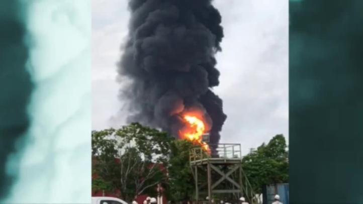 Explosión en refinería de Salina Cruz