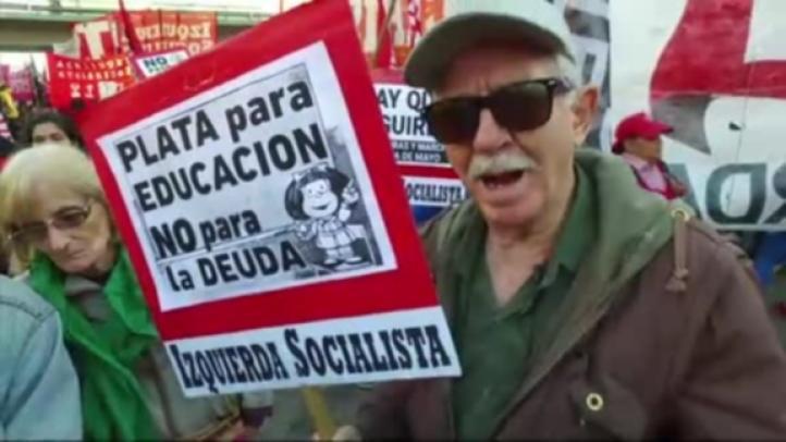 Argentina: Macri afronta primera huelga nacional