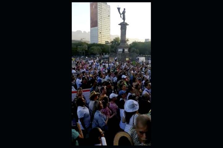 Nueva protesta del magisterio en Nuevo León