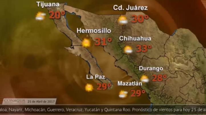 Pronóstico del tiempo para el 25 de abril