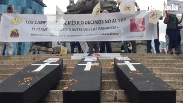 Acción contra el Acuerdo Transpacífico