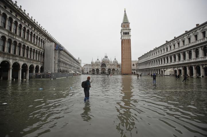 Segunda peor inundación en la historia de Venecia