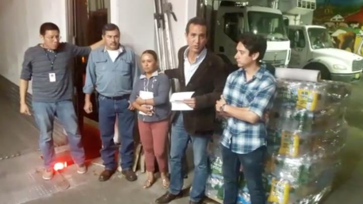 Envían desde NY toneladas de ayuda humanitaria a México