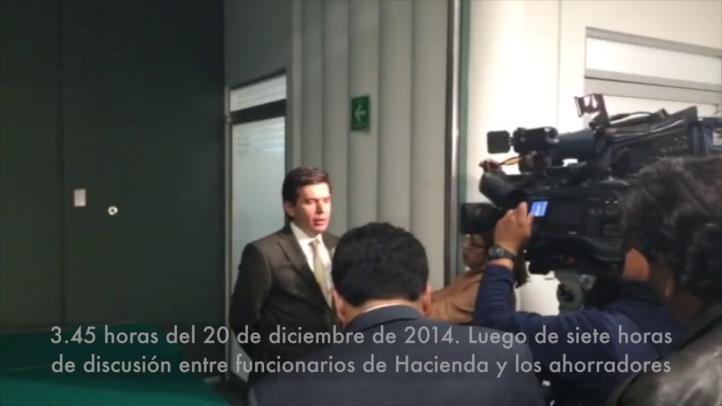 Luego de una noche de debate con ahorradores, Hacienda explica fraude de Ficrea