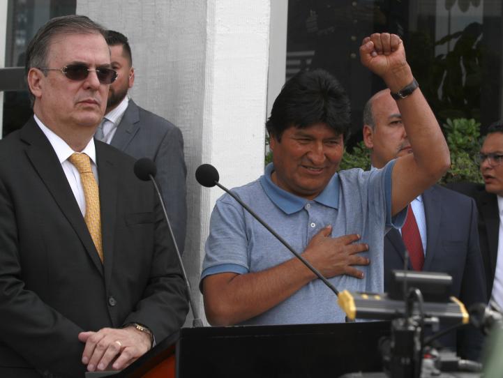 Evo Morales llega a México para seguir su lucha