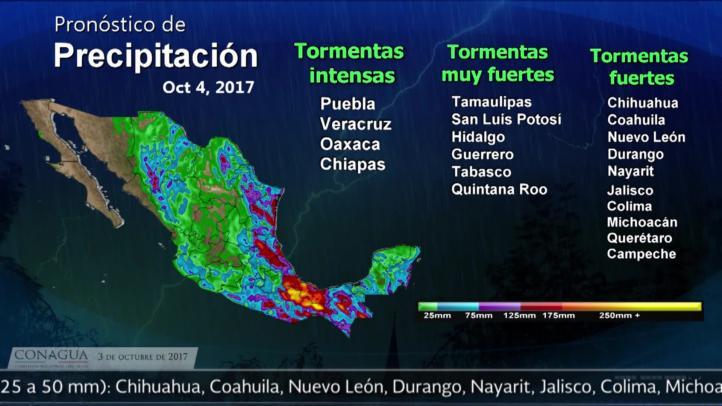 Pronóstico del tiempo para el 3 de octubre
